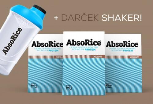AbsoRice Čokoláda 3x500g + darček AbsoRice Shaker