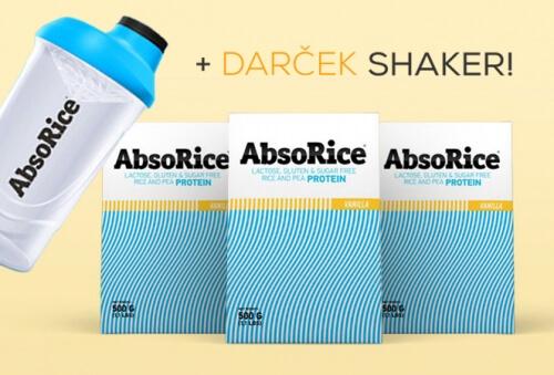 AbsoRice Vanilka 3x500g + darček AbsoRice Shaker